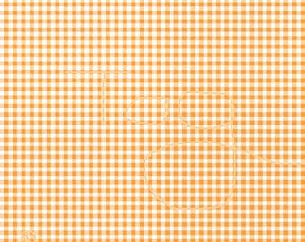 Orange Gingham on White Cardstock Paper