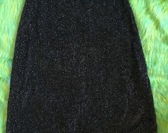 90s silver GLITTER Club kid mini skirt size S