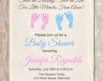 Image of baby shower footprints amazoncom pink baby shower girl and boy baby footprints vector download free vector art filmwisefo
