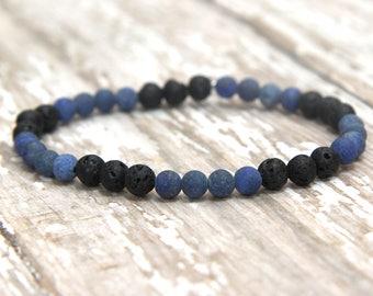 Essential Oil Bracelet, Lapis Lazuli gemstone jewelry, diffuser bracelet, aromatherapy, yoga jewelry, mala bracelet, zen, diffusing oils