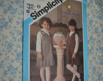 Simplicity 6607 Childs Girls Jumper Sewing Pattern - UNCUT  - Size 6