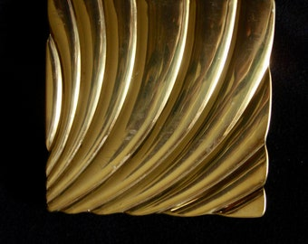 1940's VOLUPTE' Gold Metal Compact, Made in USA