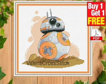 Star Wars BB-8 Cross Stitch PATTERN, Star Wars, Droid, counted cross stitch, pattern, patterns, instant download, pdf, #sp 241