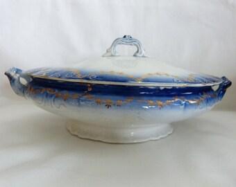Vintage serving bowl with lid