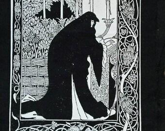 Le Mort D'Arthur by Aubrey Beardsley: Art Nouveau Screen Printed Patch
