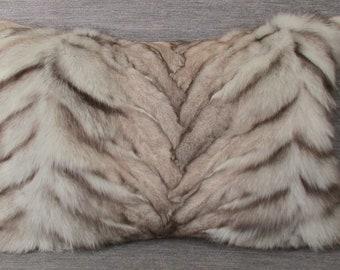 Luxury fur Pillow Genuine Fox/Fox fur Pillow ca. 60 cm x40cm Genuine blue Fox