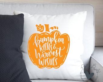 Halloween SVG Dollar Spot | Pumpkin Kisses and Harvest Wishes | SVG for Home Decor Crafts