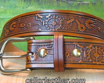 Steampunk Leather Belt