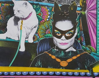 Eartha Kitt Catwoman Art Print