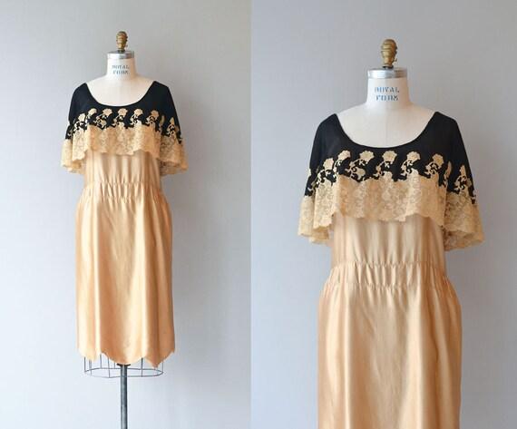 Dorée dress 1920s dress silk Fleur d7Anqd