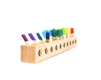 Counting Game | Montessori Math | Montessori Materials | Preschool Learning | Toddler Learning | Toddler Gift | Color Sorting Toy