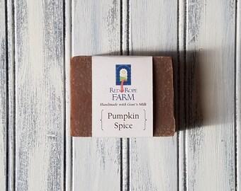 Pumpkin Spice Goat's Milk Soap, Cold Process, Extra-Moisturizing, 1 bar