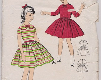 Vintage Sewing Pattern, THEATRE, Le Roy 2367, Girls' Dress, 1950s, Girl