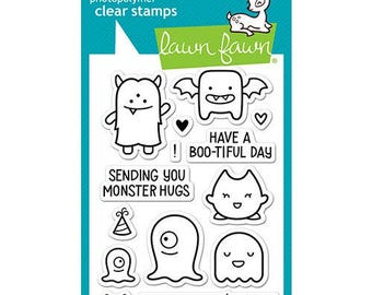 Lawn Fawn - Halloween - Clear Acrylic Stamps - Monster Mash