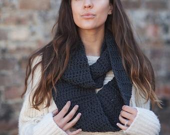 Infinity scarf fall fashion accessories unisex cowl warm wool circle wraps crochet winter infinity handmade super chunky