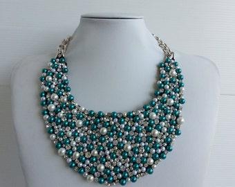 Strass necklace, Statement necklace, Statement, Jessica necklace, Big necklace, Collar necklace with rhinestone and Swarovski strass IV127