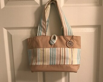 Small upcycled mini tote