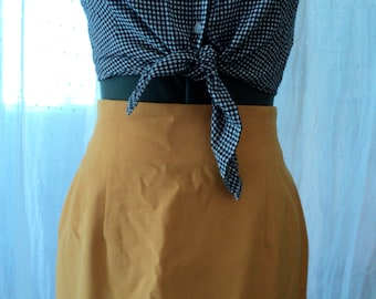 Sunshine Yellow Pencil Skirt