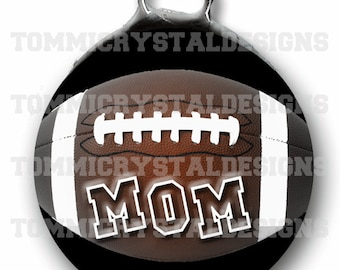 "1.5"" Sporty Football MOM Soldered Art Collage Charm (also comes with no wording)"
