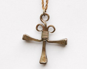 Thick Cross Pendant on Chain.