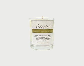 Natural Candle, Cardamom Rose + Cedar Wood  Votive Candle, Sultry Candle, Scented Vegan Candle