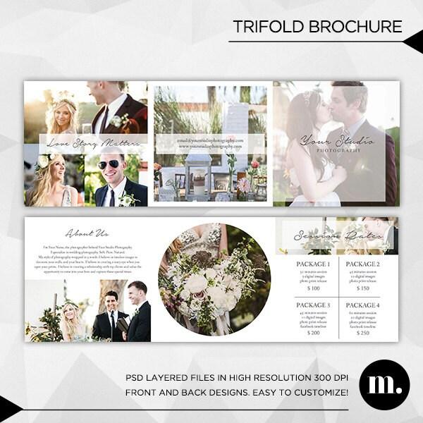 5 x 5 Trifold Broschüre Vorlage mit über mich und Session