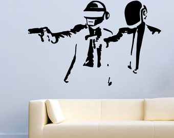 Music Wall Decals DJ Daft Punk Electronic Pulp Fiction Decor Stickers Vinyl MK0837
