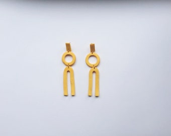 Polymer Clay and Gold plated Maxi Earrings