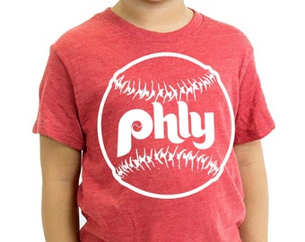 Kid's Eco Tri-Blend Phly T-Shirt, Kids Phillies Inspired TShirt