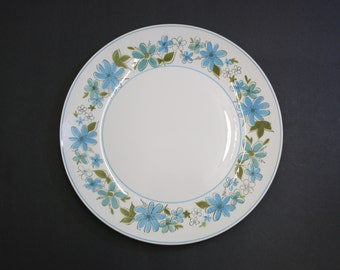Vintage Mikasa Cera Stone 'Maggi' Blue Floral Platter (E8196)