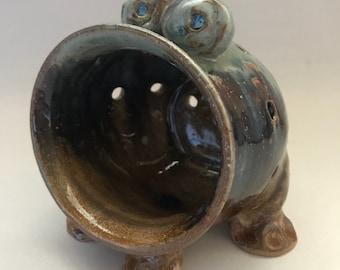 Frog sponge holder