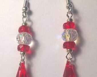 Red Teardrop earring