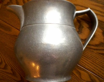 "Wilton Pewter Pitcher, Columbia , PA, Signed, 8"" by 6"""