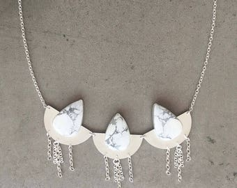 Howlite Statement Necklace