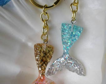 Mermaid Tail Keychain, Choose Your Color