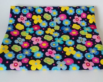 Bright Flowers of the Night Cotton Fabric