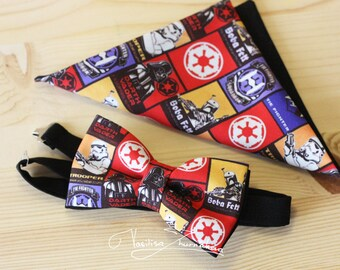 Set bow tie and handkerchief Star Wars