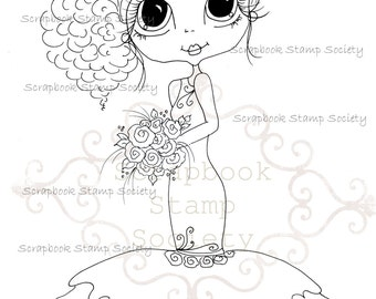 INSTANT DOWNLOAD Digital Digi Stamps Big Eye Big Head Dolls Digi I Do June  IMG602 By Sherri Baldy