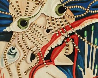 Lovely Lashes-9x12 Original Acrylic Painting
