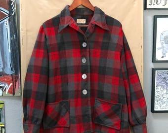 Vintage 50's Pendleton 49er Jacket Made in USA 1950's Pendleton Woolen Mills