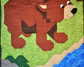 Brown Bear Quilt Pattern - PDF