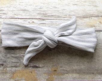 Striped headband / knot headband / top knot headband / bow headband / womens headband / mommy and me headbands / baby knot headband /