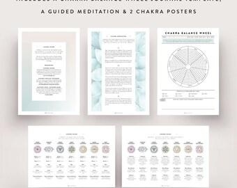 Chakra Kit / Chakra Chart, Chakra Guide, Chakra Planner, Chakra Meditation, Digital File, Bullet Journal, Printable Planner