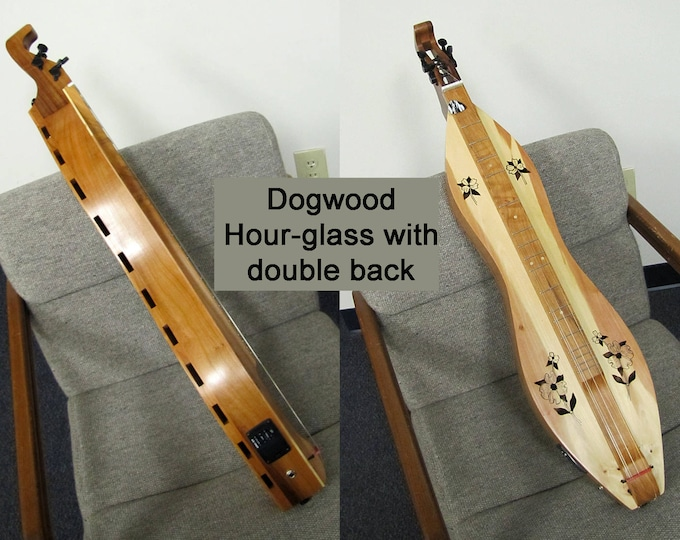 Custom Double-back Mountain Dulcimer, 4-string with optional Belcat Electric