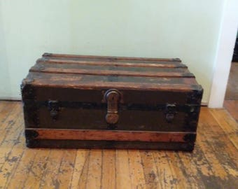 Antique trunk, Old Wornout Trunk, Decor Or Project Piece!