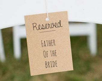 Rustic Wedding Reserved Signs