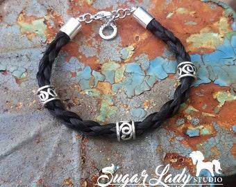 Horse Hair Bracelet with Beads - Braided Horsehair Bracelet