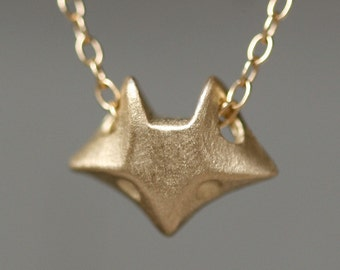 Fox Necklace in 14K Gold