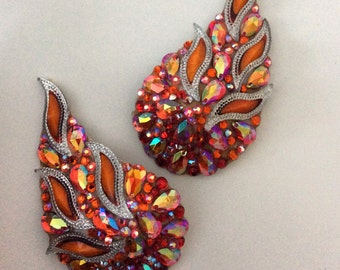 Flame, paisley shaped pasties