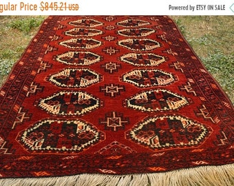 41% OFF FLAT SALE Antique Char Shangi Natural Dye Washable Turkoman Carpet